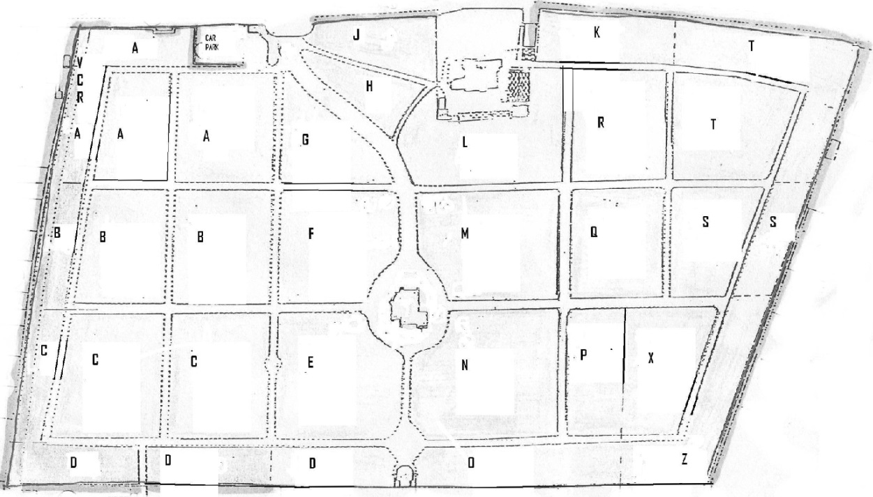 Hale Cemetery Map